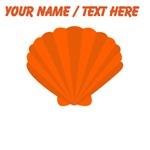 Custom Orange Oyster Shell