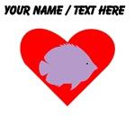 Custom PurpleTropical Fish Heart