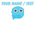 Custom Sky Blue Owl