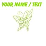 Custom Green Butterfly Art