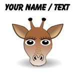Custom Cartoon Giraffe Face