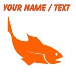 Custom Orange Trout Silhouette