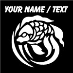 Custom Coy Fish Silhouette