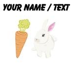 Custom White Rabbit With Carrot