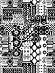 Black and white Geometric African Tribal Pattern
