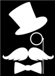 Funny Mustache Face With Monocle