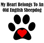 My Heart Belongs To An Old English Sheepdog
