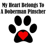My Heart Belongs To A Doberman Pinscher