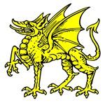 Yellow Dragon Statue
