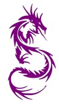 Purple Dragon Tattoo