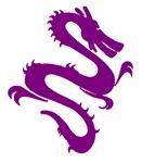 Purple Dragon Drawing