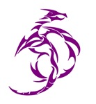 Purple Abstract Dragon