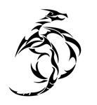 Black Abstract Dragon