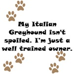Well Trained Italian Greyhound Owner