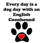English Coonhound Dog Day