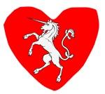 Unicorn Statue Heart