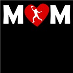 Football Wide Receiver Heart Mom