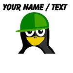 Custom Green Hat Penguin