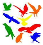 Colorful Eagle Silhouette