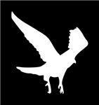 White Landing Eagle Silhouette