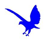 Blue Landing Eagle Silhouette