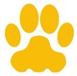 Orange Big Cat Paw Print
