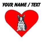 Custom Boston Terrier Heart