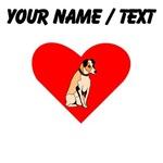 Custom Parson Russell Terrier Heart
