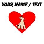 Custom Wire Fox Terrier Heart