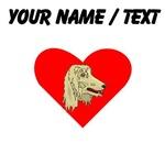 Custom Afghan Hound Heart