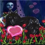 Schipperke Valentine be mine hearts