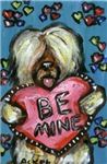 BRIARD Valentine Be mine love Heart