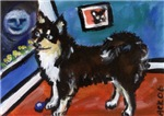 FINNISH LAPPHUND moon art