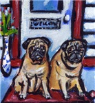PUGS wait at door