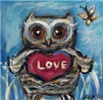 Baby owl Love
