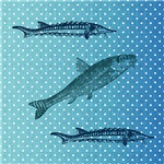 Three Fish Polka Dots