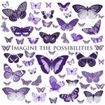 Purple Imagine Butterflies