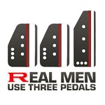 Real Men Use Three Pedals Rally Drift Racing
