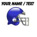 Custom Blue Football Helmet