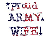 Patriotic Proud Army Wife