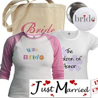 Bride T-shirts, Tote Bags, Keepsakes, More!