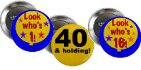 Age Specific Birthday Buttons