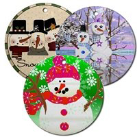 Snowman Holiday Ornaments