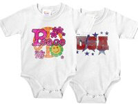 Patriotic USA & Peace Infant Bodysuits