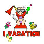 VACATIONING STICK FIGURE T-SHIRTS