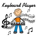 Stick Figure Keyboard Player T-shirts and Gifts