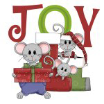 JOY Holiday Mice T-shirts and Gifts
