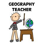 Stick Figure Geography Teacher