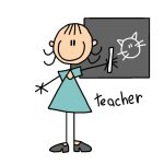 Stick Figure Female Teacher T-shirts and Gifts