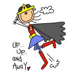 Up and Away Girl Hero T-shirts and Gifts